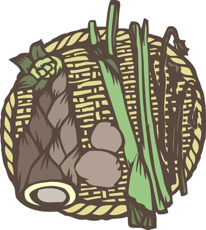 provisions: Bamboo shoots and wild vegetables