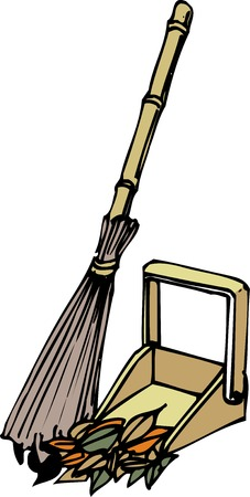 besom: Dustpan as besom