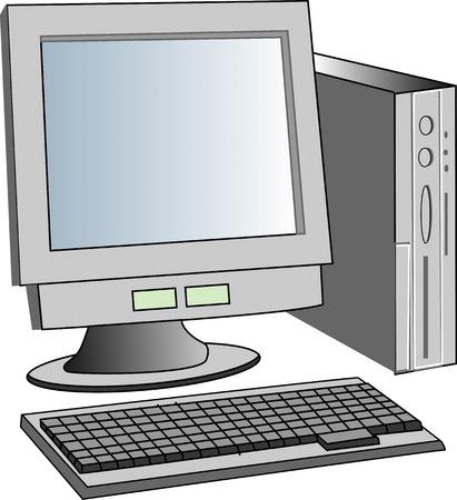 desktop pc: Desktop PC Stock Photo
