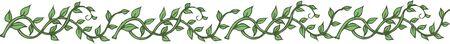 Ivy decoration ruffled
