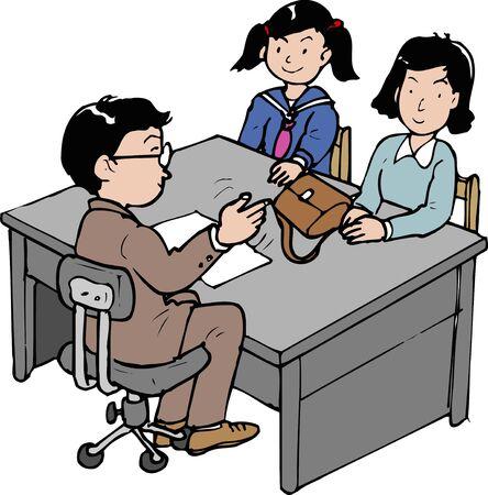 school meeting: Tripartite meeting Stock Photo
