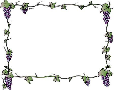 ブドウの正方形装飾フレーム