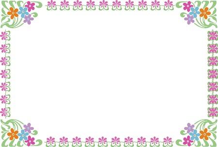 花広場の装飾フレーム