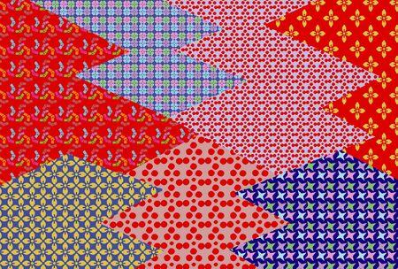 japanese style: Japanese style pattern flower Stock Photo