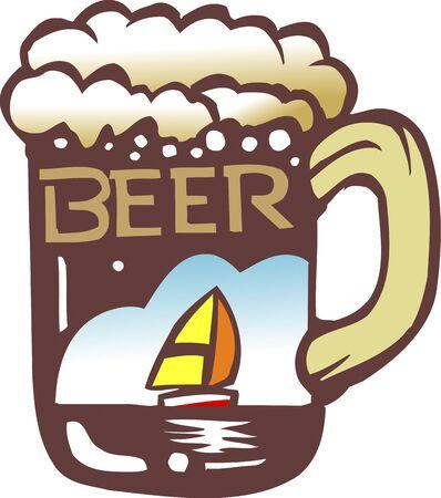 and draft beer: Draft beer
