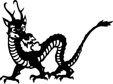 the whole body: Dragon sideways systemic monochrome
