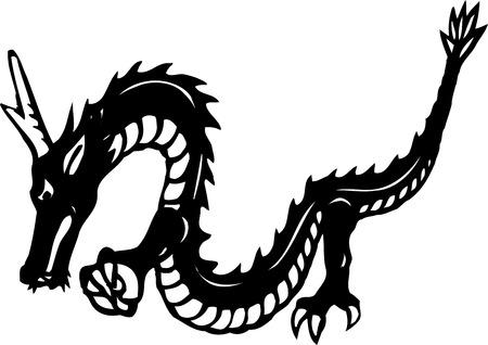 systemic: Dragon sideways systemic monochrome