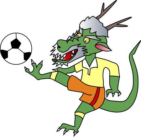 ドラゴンのサッカー