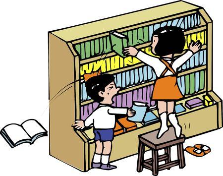 organize: Books organize Stock Photo