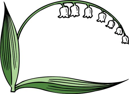 valley: Frame of lily of the valley
