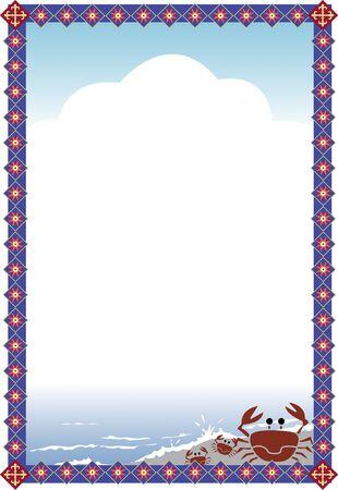 カニの装飾的なフレーム