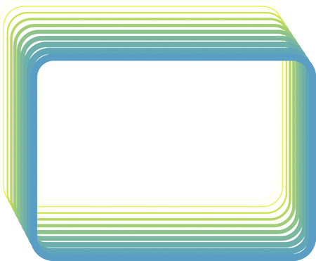 rounded: Rounded decorative frame of rectangular lines of gradation