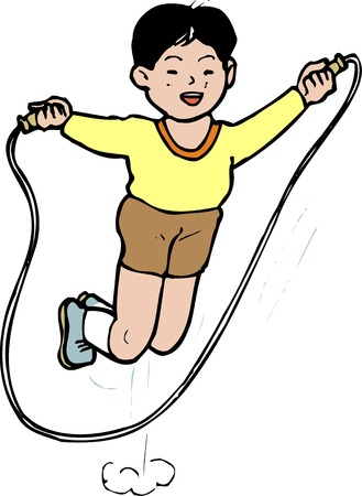 jump rope: Jump rope Stock Photo