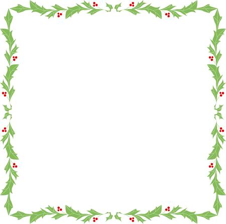 ホリーの丸みを帯びた正方形の飾り枠