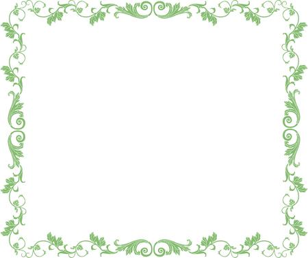 アラベスクの丸みを帯びた正方形の飾り枠 写真素材