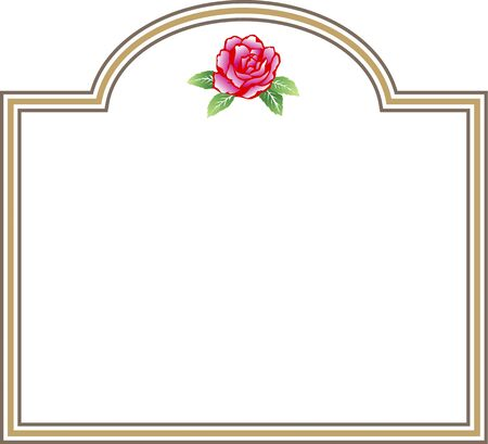 decorative frame: Decorative frame of roses Stock Photo