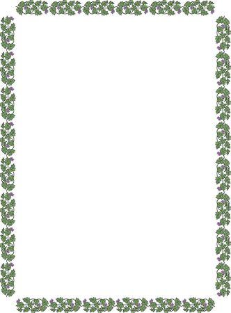 ブドウの長方形の飾り枠