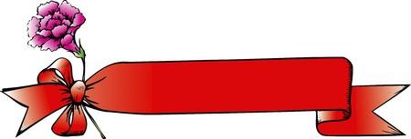 カーネーションのリボン装飾フレーム