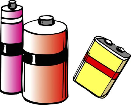 component parts: Dry batteries