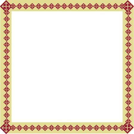 正方形装飾フレームの幾何学模様 写真素材