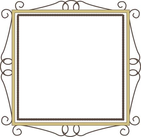 洋風正方形の額縁 写真素材
