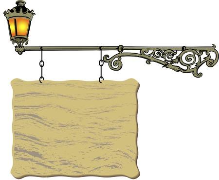 horizontal: Horizontal hanging signboard