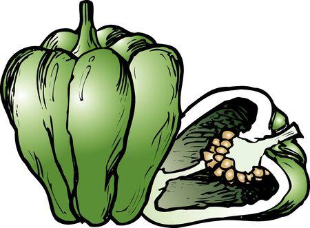 summer diet: Green peppers