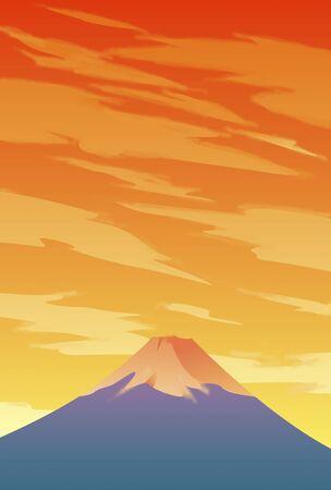nightfall: Fuji sunset
