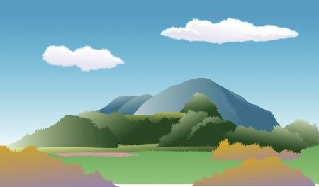 mountain landscape: Mountain Stock Photo