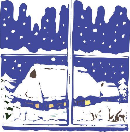 snow landscape: Snow scene