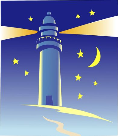 lighthouse at night: Night of the lighthouse