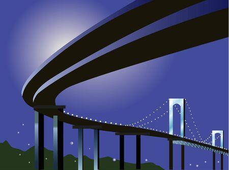 highway night: Night highway Stock Photo
