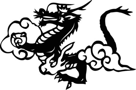 reojo: Dragon sideways systemic monochrome
