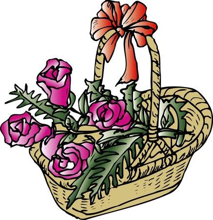 flower basket: Flower basket of wisteria