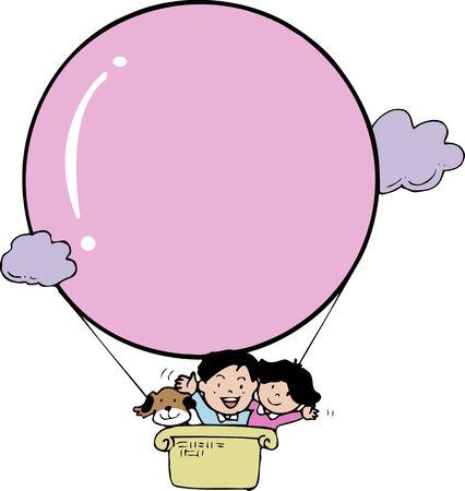 kindy: Frame of hot-air balloon