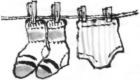 undergarment: Washing
