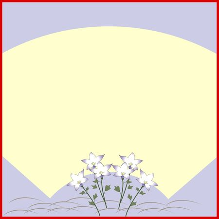 bellflower: Bellflower pattern fan face colored paper