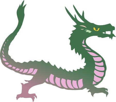 sideways: Full body Dragon landscape