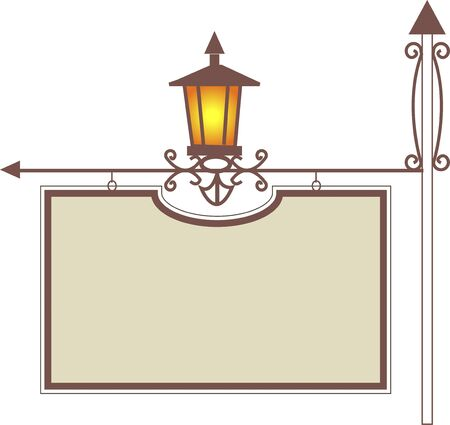 streetlight: Horizontal hanging signboard