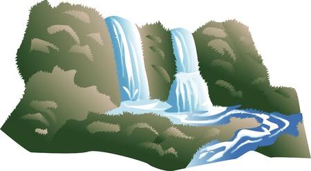 2 つのツイン滝