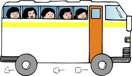 kindy: Frame of the bus Stock Photo