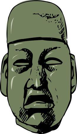 jade: Capitation image of jade Stock Photo