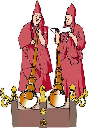lamaism: Lama of festival Stock Photo