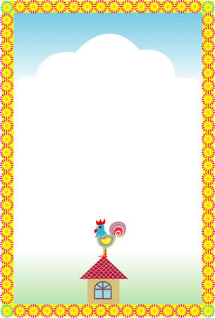 weathercock: Decorative frame of weathercock