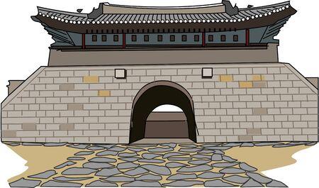 Hwaseong Fortress Suwon Suuuon Stock Photo