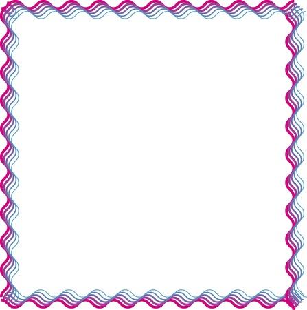 四角形のライン グラデーションの装飾的なフレーム