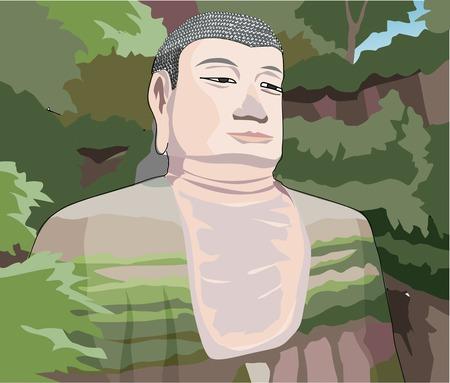 world heritage: Leshan Giant Buddha Stock Photo
