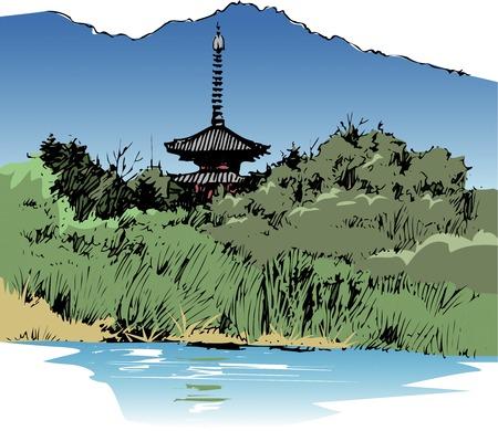 pagoda: Fivestory pagoda