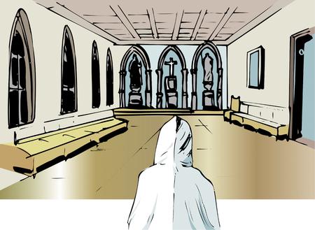 hokkaido: Monastery interior