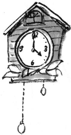 early summer: Cuckoo clock Stock Photo